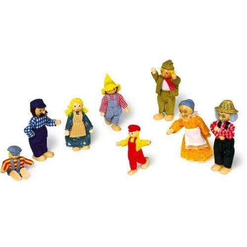 Legler Poppenhuis poppetjes 'boerenfamilie'