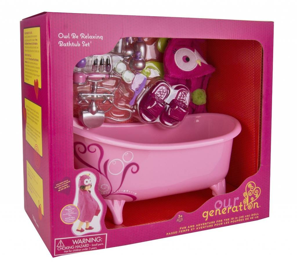 Our Generation Owl be Relaxing Bathtub Set