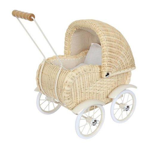 Legler Rieten poppenwagen beige (wickerwork)