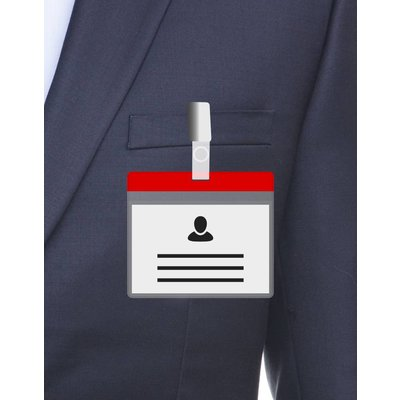 MeetingLinq A7 Badgehouder Rood inclusief gratis papier vanaf € 0,36 per stuk