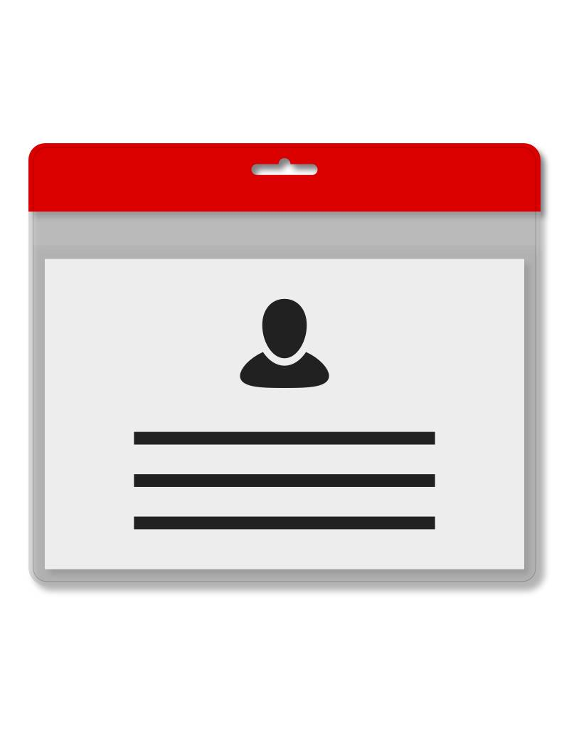 MeetingLinq Din A7 Ausweishülle Rot inkl. Badgepapier ab € 0,36 pro Stück