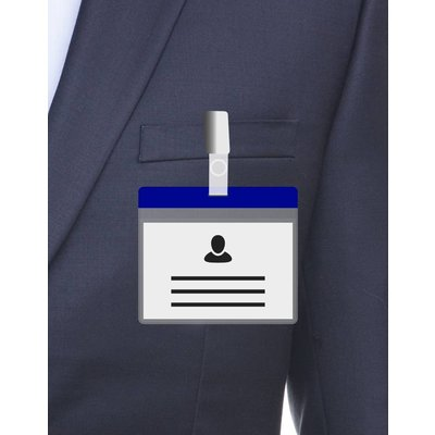MeetingLinq A7 Badge holder Blue including free paper from € 0.36 each