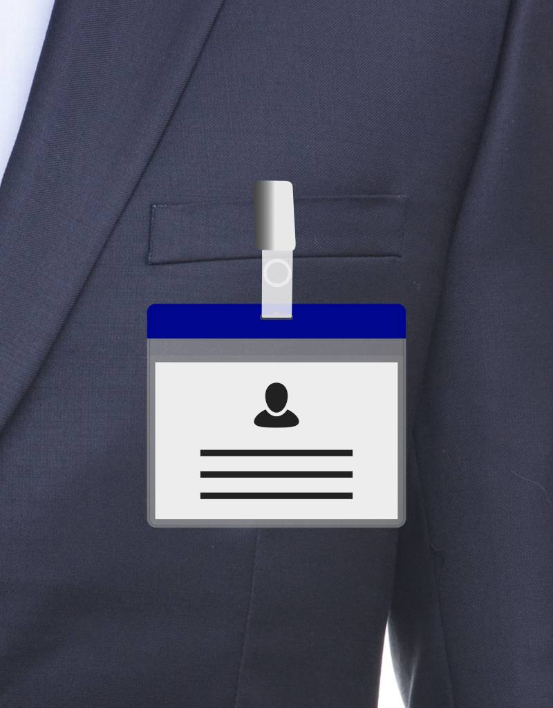 MeetingLinq A7 Badge holder Blue free paper included  from € 0.36 each