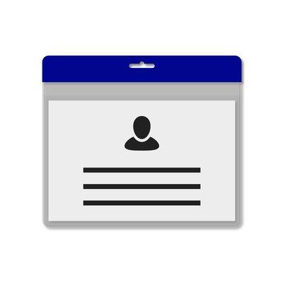 MeetingLinq A7 Badgehouder Blauw inclusief gratis papier vanaf € 0,36 per stuk