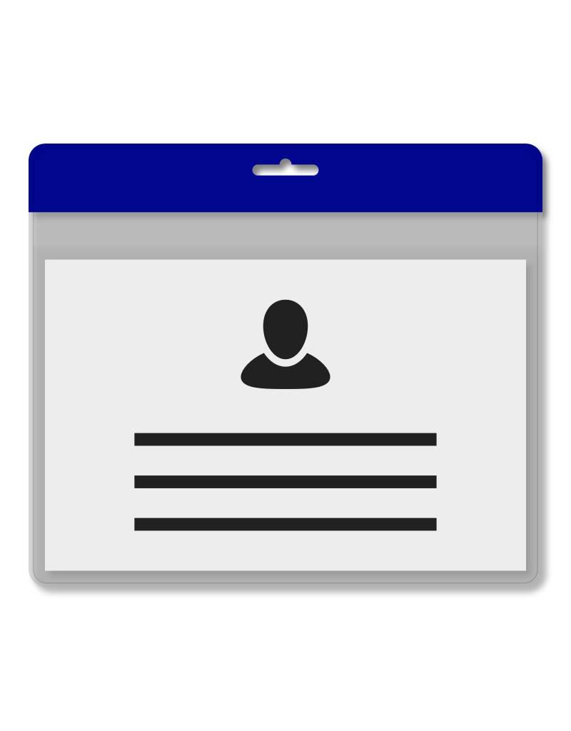 MeetingLinq Din A7 Badgehalter Blau inkl. Badgepapier ab € 0,36 pro Stück
