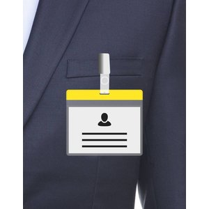MeetingLinq A7 Badge holder Yellow