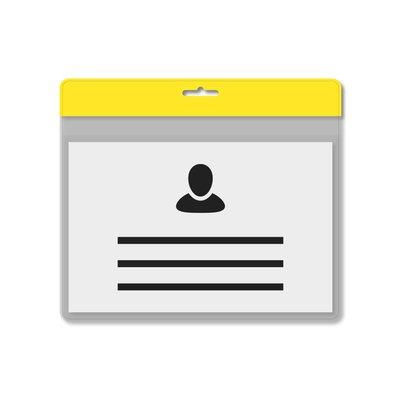 MeetingLinq A7 Ausweishalter Gelb inklusive Gratispapier ab je 0,36 €