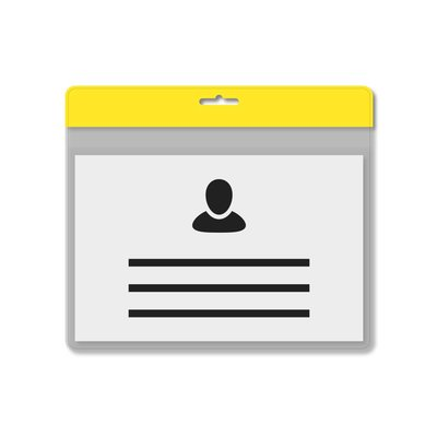 MeetingLinq A7 Badgehouder Geel inclusief gratis papier vanaf € 0,36 per stuk