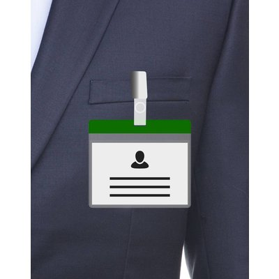 MeetingLinq A7 Badge holder Green free paper included  from € 0.36 each