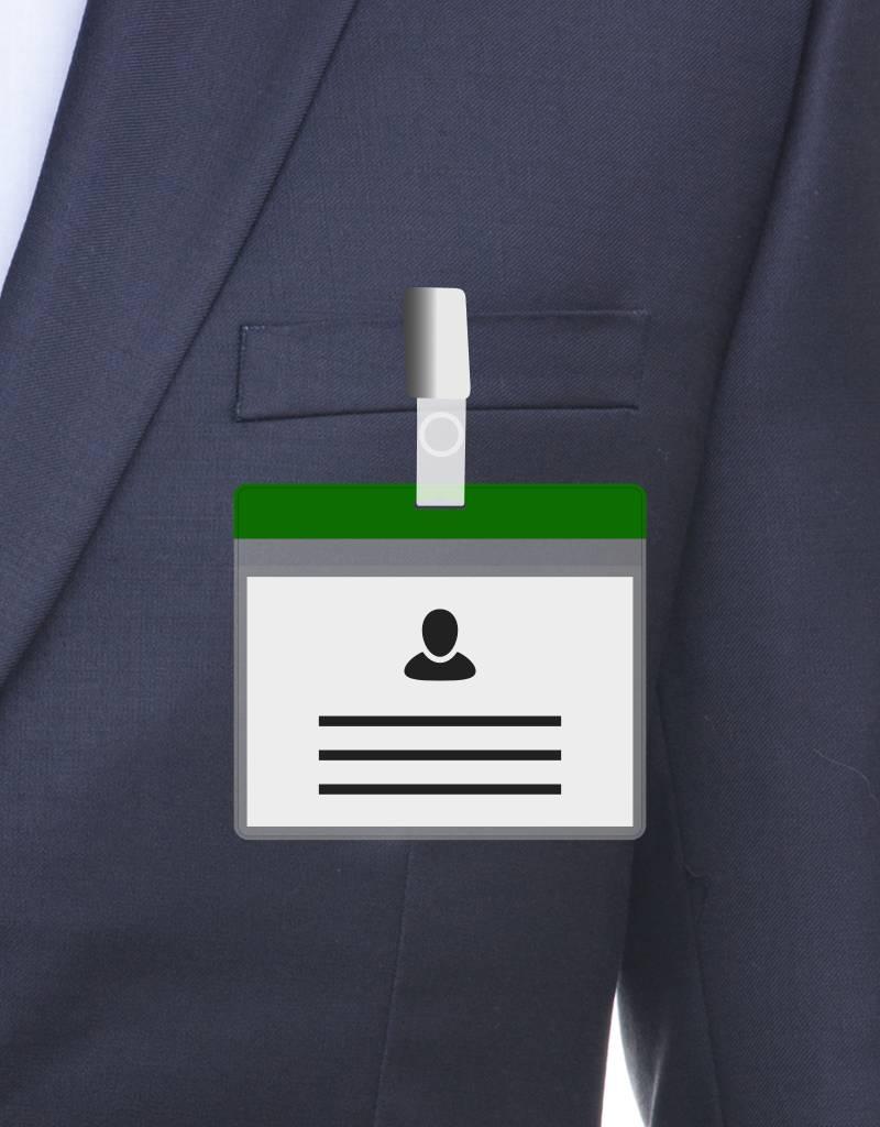 MeetingLinq Din A7 Ausweishülle Grün inkl. Badgepapier ab € 0,36 pro Stück