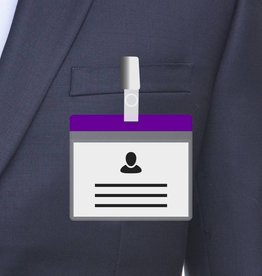 MeetingLinq A7 Badge holder Purple