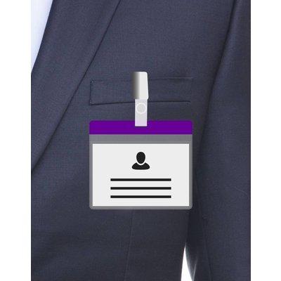 MeetingLinq A7 Badgehouder Paars inclusief gratis papier vanaf € 0,36 per stuk