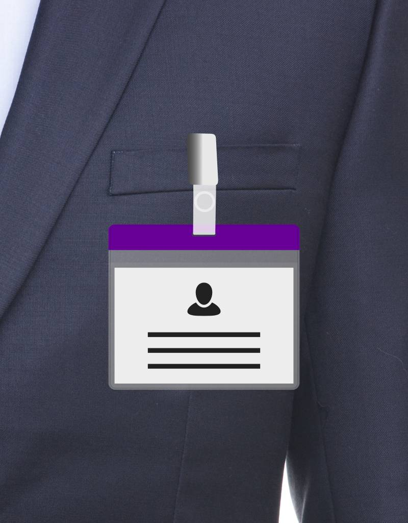 MeetingLinq A7 Badge holder Purple free paper included  from € 0.36 each