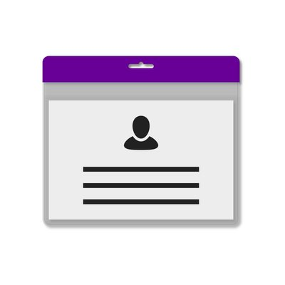 MeetingLinq A7 Badge holder Purple including free paper from € 0.36 each