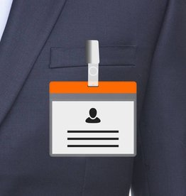 MeetingLinq A7 Badge holder Orange