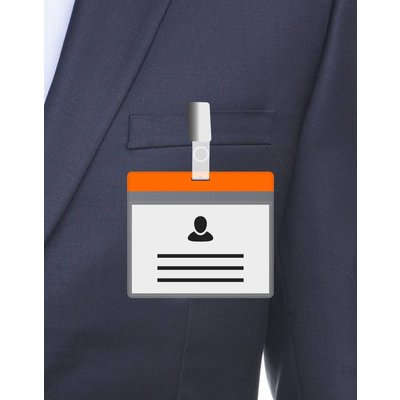 MeetingLinq A7 Badge holder Orange including free paper from € 0.36 each