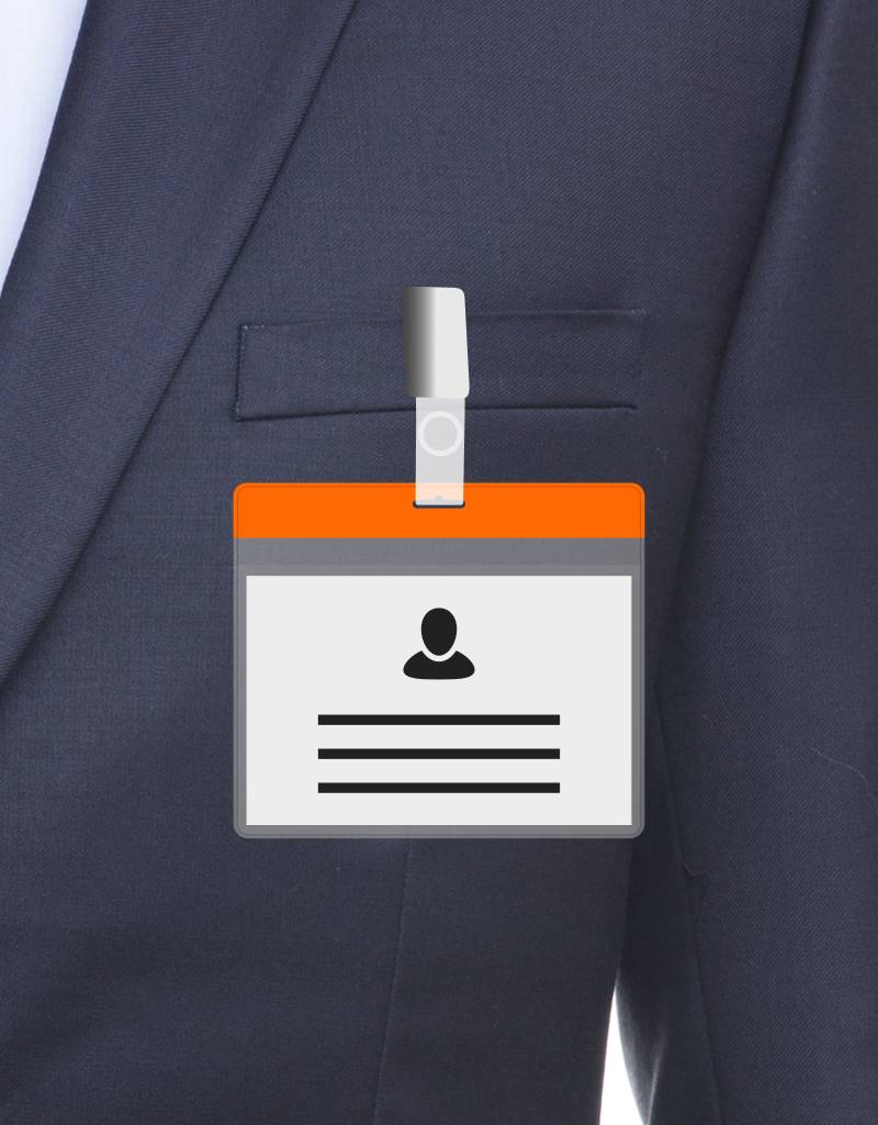 MeetingLinq A7 Badge holder Orange free paper included  from € 0.36 each