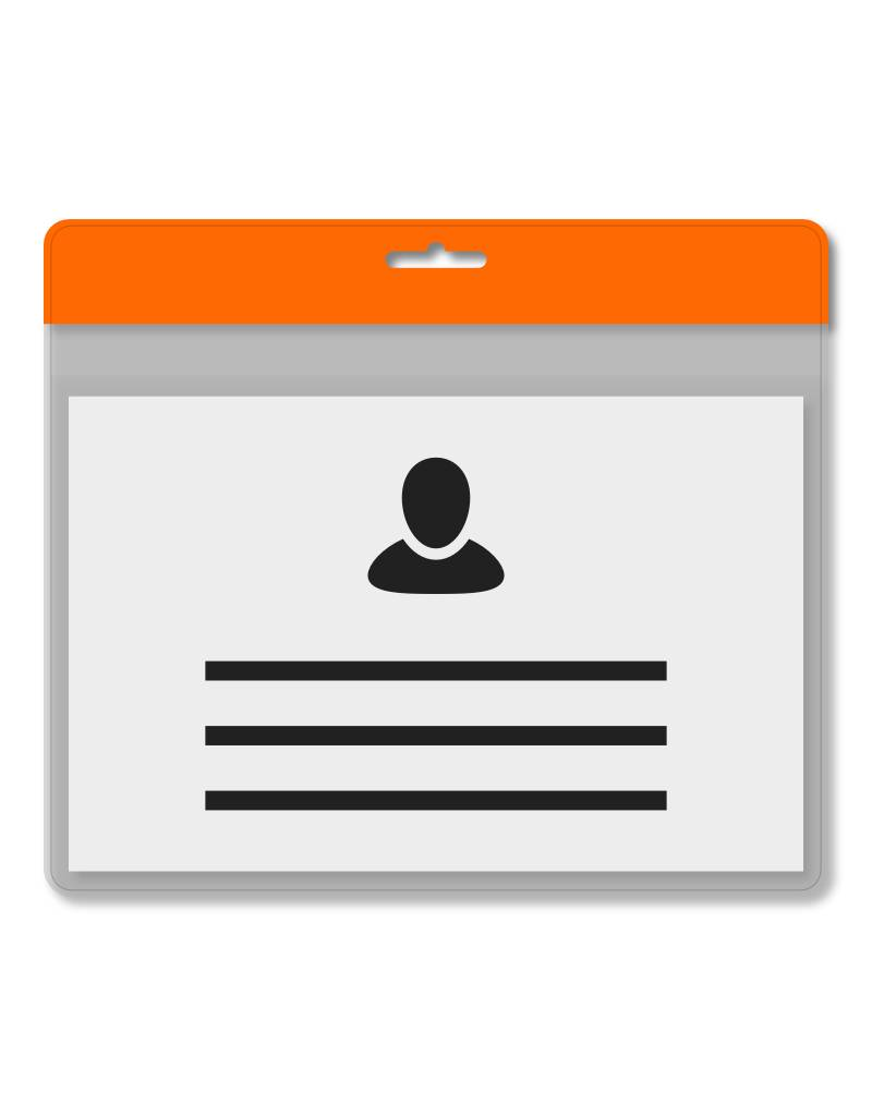 MeetingLinq A7 Badgehouder Oranje inclusief gratis papier vanaf € 0,36 per stuk
