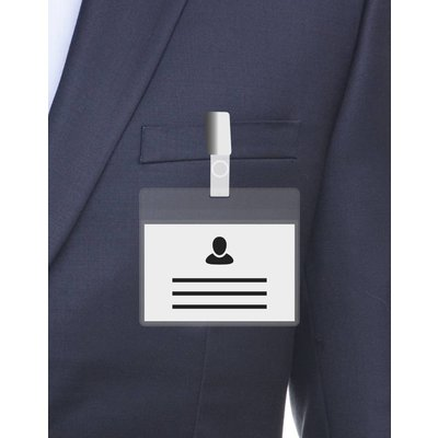 MeetingLinq A7 Ausweishalter transparente / transparente Leiste inklusive kostenlosem Papier ab 0,26 € pro Stück