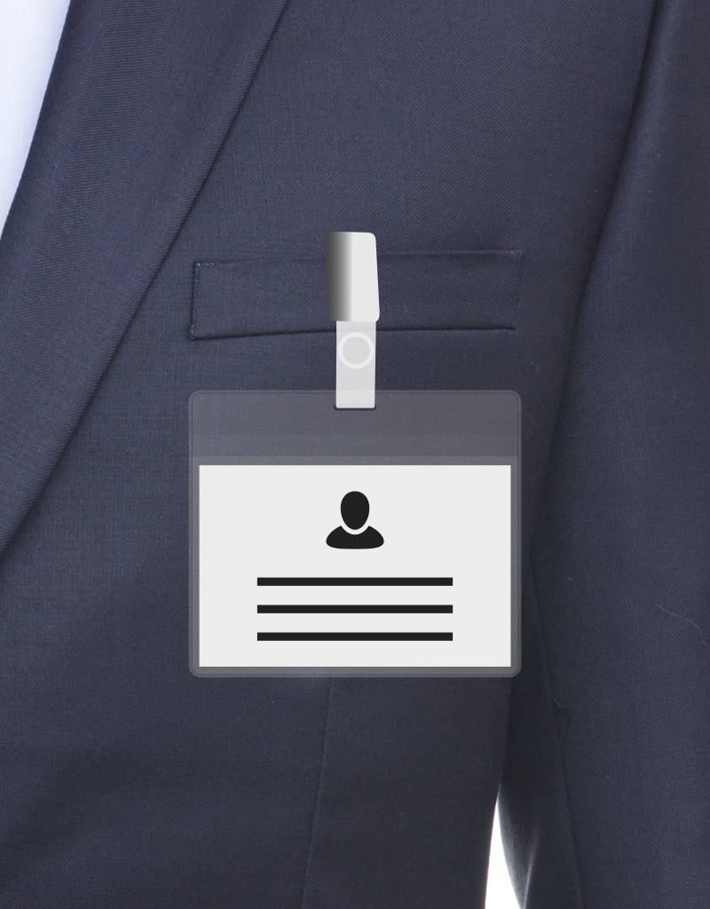 MeetingLinq A7 Badge holder Transparent free paper included  from € 0.26 each