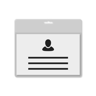 MeetingLinq A7 Badge holder transparent / transparent bar including free paper from € 0.26 each