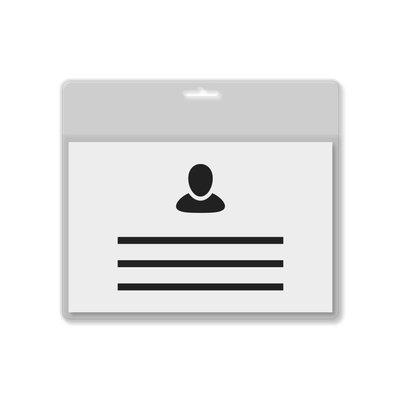 MeetingLinq A7 Badgehouder transparant / doorzichtige balk inclusief gratis papier vanaf € 0,26 per stuk