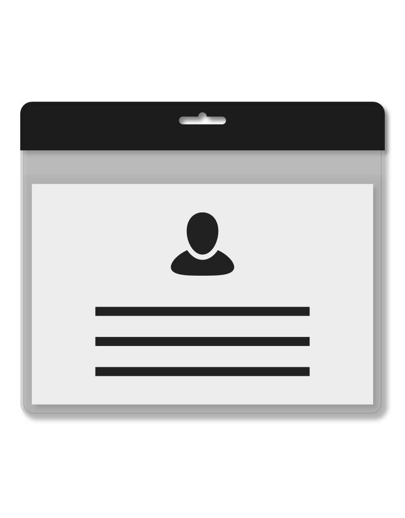 MeetingLinq Din A 7 Ausweishülle Schwarz inkl. Badgepapier ab € 0,36 pro Stück