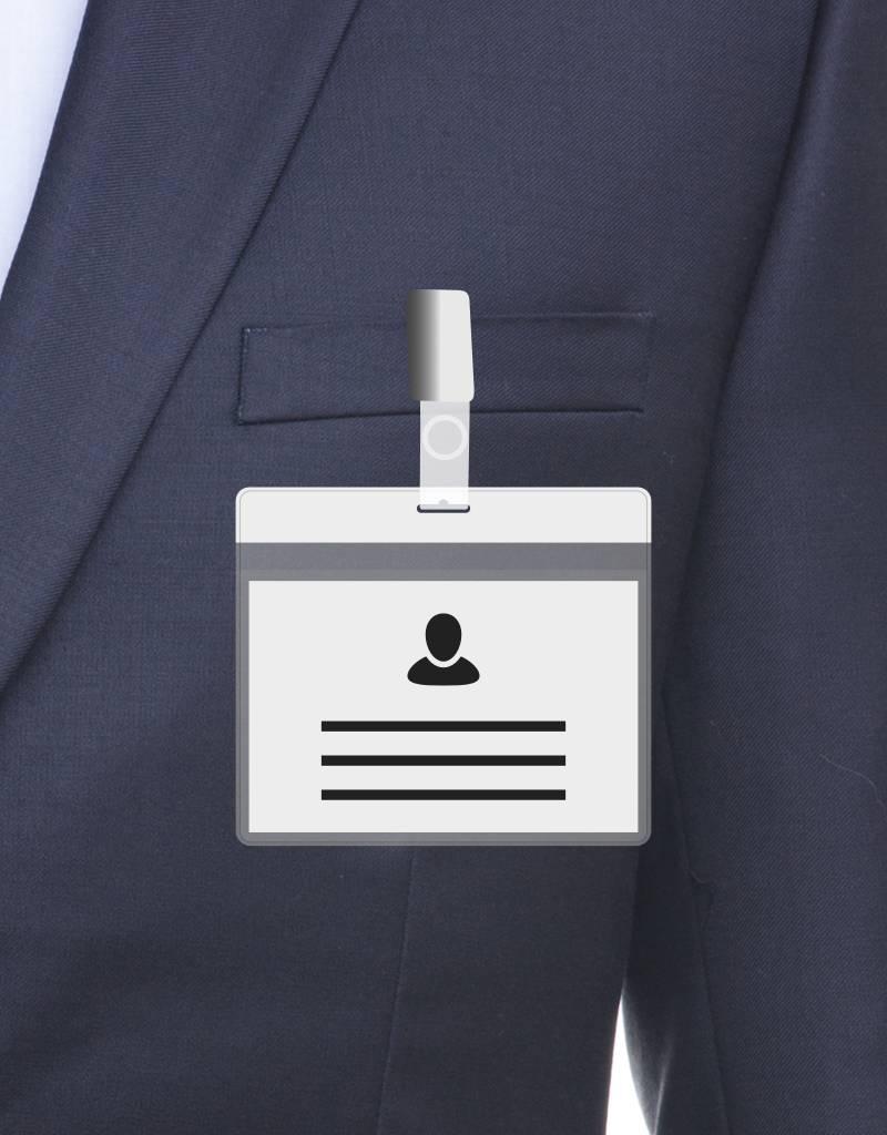 MeetingLinq Din A7 Ausweishülle Weiß inkl. Badgepapier ab € 0,36 pro Stück