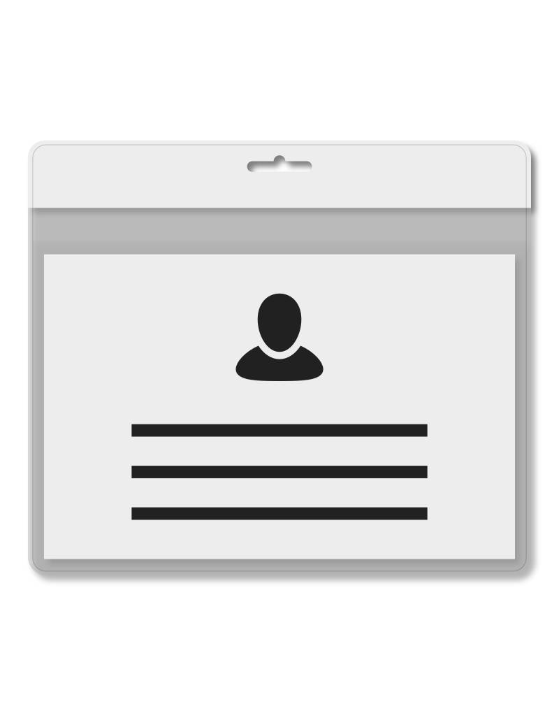 MeetingLinq A7 Badgehouder Wit inclusief gratis papier vanaf € 0,36 per stuk