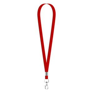 MeetingLinq Narrow red lanyard with 1 metal hook