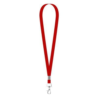 MeetingLinq Narrow red lanyard with 1 metal hook - 1 cm wide 90 cm long