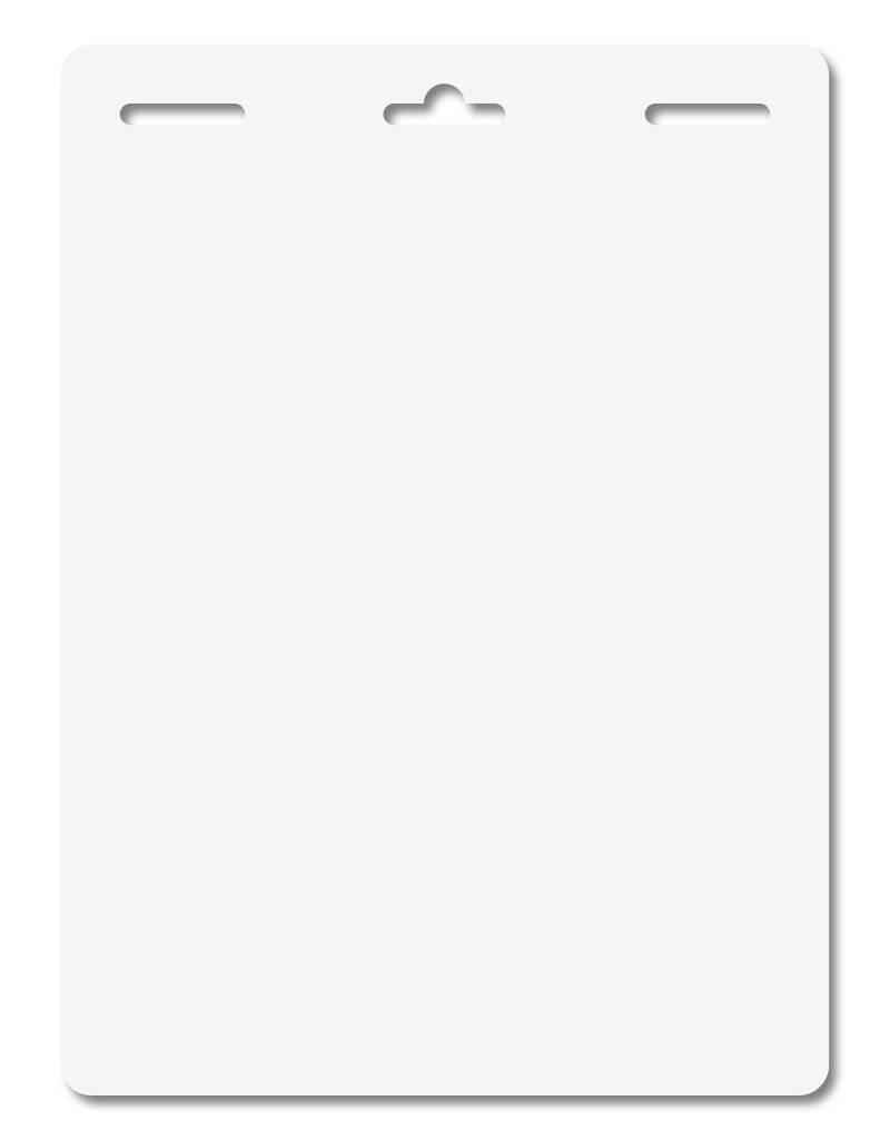 MeetingLinq Butterfly badge  zum Kleben – Doppelseitig, Mattfolie, Lang, 3-fach Lochung