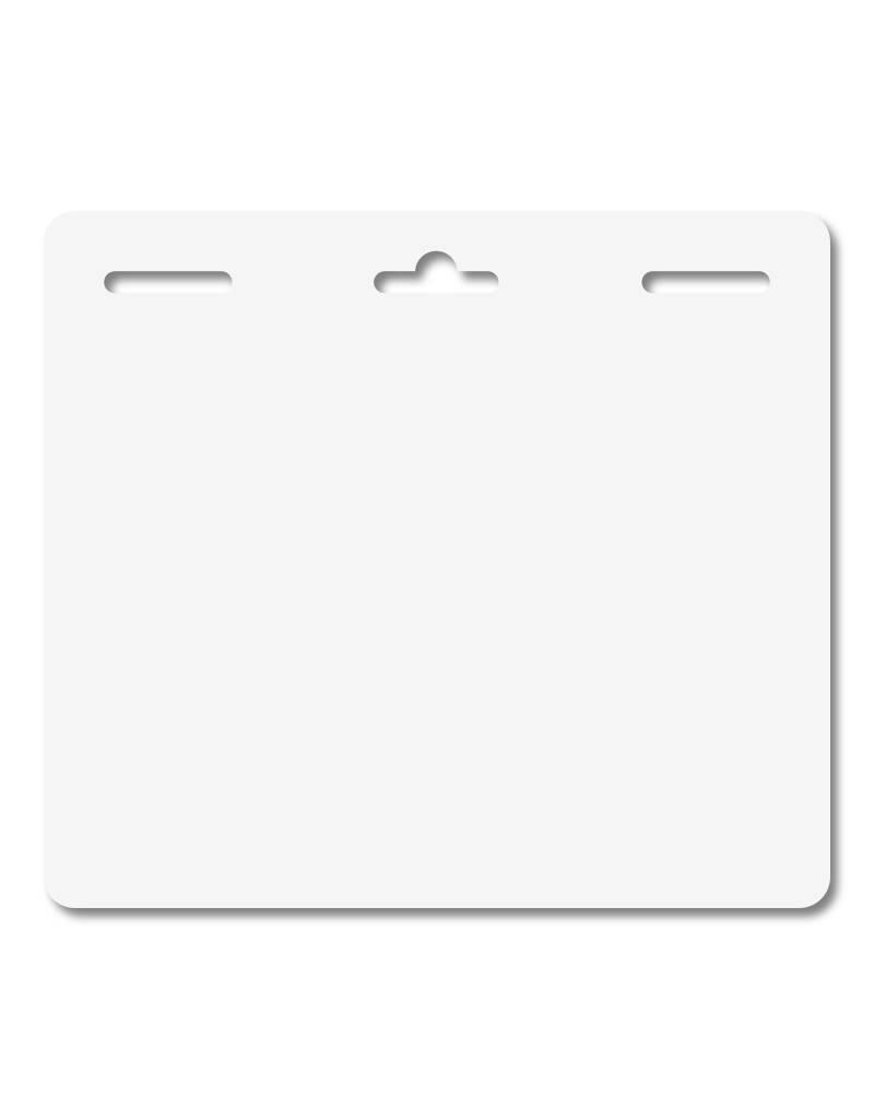 MeetingLinq Butterfly badge zum Kleben - Doppelseitig, Mattfolie,  3-fach Lochung