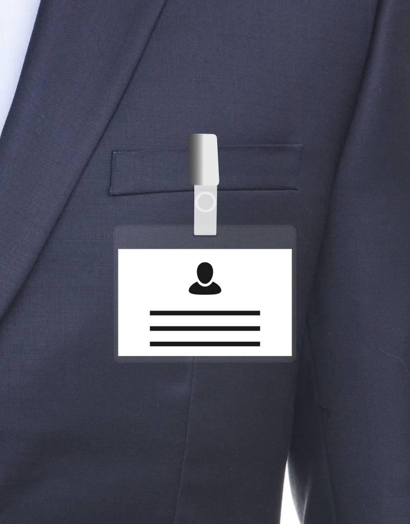 MeetingLinq Ausweishülle transparent – Inklusive Badgepapier