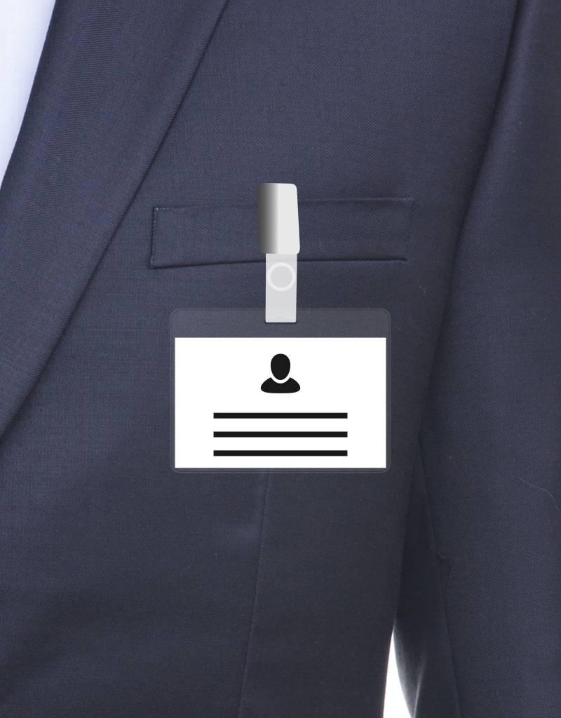 MeetingLinq Ausweishülle im Kreditkartenformat - inkl. gratis Badgepapier