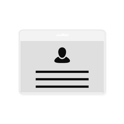 MeetingLinq Badge holder Credit card format - incl. Free badge paper