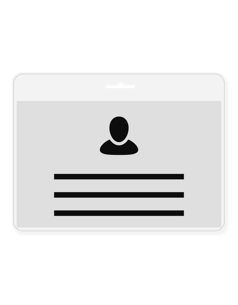 MeetingLinq Badge holder Credit card size- Free badge paper included