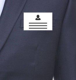 MeetingLinq Badgehouder Creditcard formaat met clip