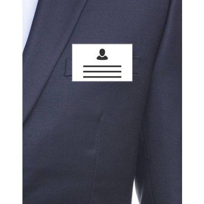 MeetingLinq Badgehouder Creditcard formaat met clip / veiligheidsspeld