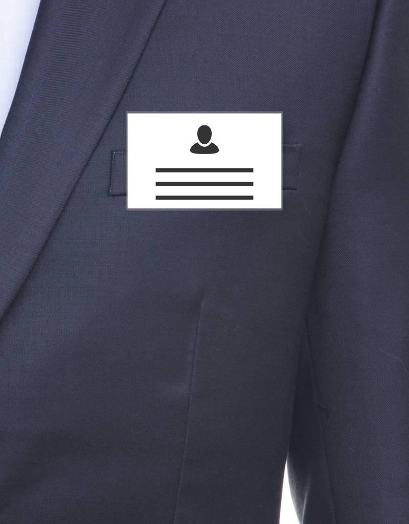 MeetingLinq Ausweishülle im Kreditkartenformat mit Clip / Sicherheitsnadel
