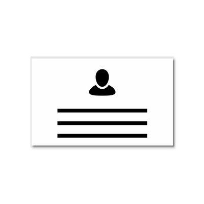MeetingLinq Ausweisinhaber Kreditkartenformat mit Clip / Sicherheitsnadel
