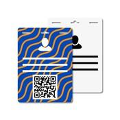 MeetingLinq Butterfly badge plakbadge – Dubbelzijdig, Matte folie, Lang, 3 Sleuven