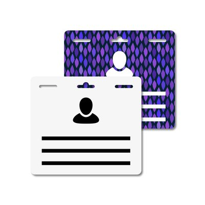 MeetingLinq Butterfly Badge plakbadge – Dubbelzijdig, Matte folie, Medium, 3 Sleuven