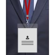 MeetingLinq A6 Ausweishalter Hartfolie Transparent