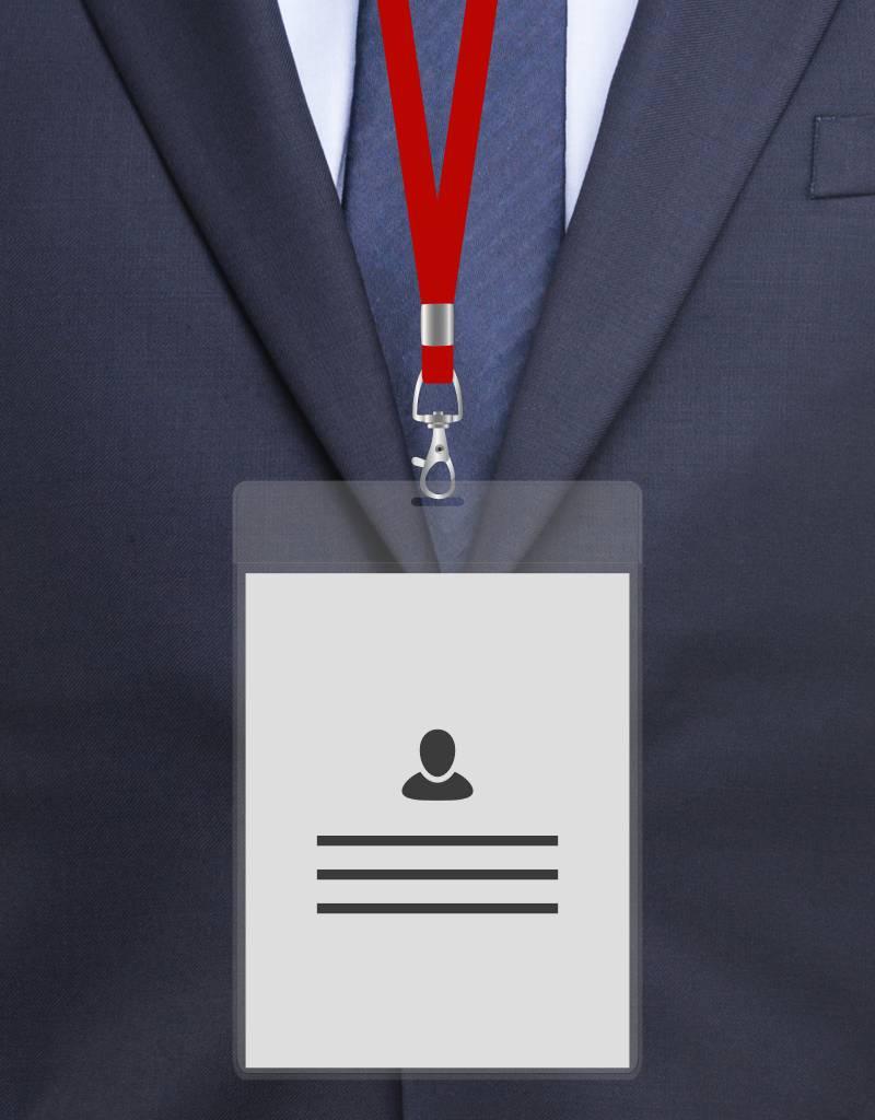 MeetingLinq A6 Badge holder,  Hard foil, Transparent