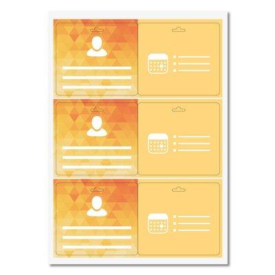 MeetingLinq Schmetterlingsabzeichen Kleberabzeichen - Doppelseitig, matte Folie, mittel, 3 Steckplätze