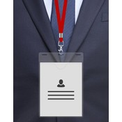 MeetingLinq A6 Badge holder Soft foil Transparent