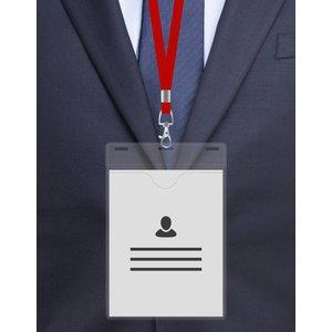 MeetingLinq A6 Badge holder, Soft foil, Transparent