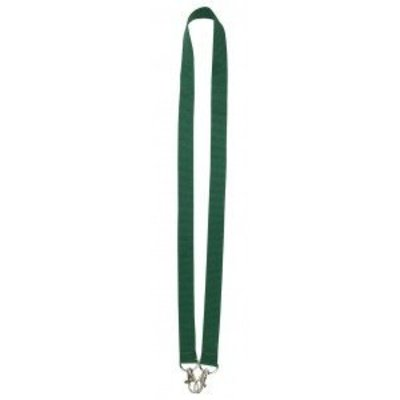 MeetingLinq Dark green wide lanyard with 2 hooks. 2 cm wide and 90 cm long