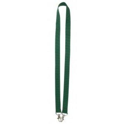 MeetingLinq Donker groene brede lanyard met 2 haken. 2 cm breed en 90 cm lang